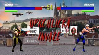 Zeman vs. Drahoš - Mortal Kombat fight - na život a na hrad