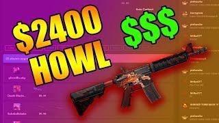 BETTING MY $2400 FN HOWL ON CSGOMAGIC!!!