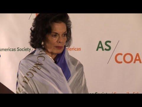 Bianca Jagger pide sanciones contra gobierno de Nicaragua
