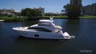 Yachtpics Aerial Footage of a 72 Princess Yacht