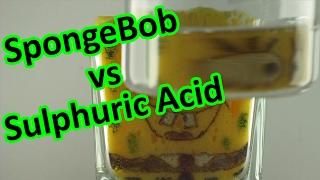 ☠️Sulphuric Acid vs. SpongeBob decomposition | AcidTube-Chemical reactions⚗️