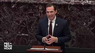 WATCH: Rep. Crow urges senate to subpoena OMB documents on Ukraine aid | Trump impeachment trial
