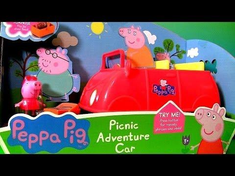 Peppa Pig Picnic Adventure Car with Picnic Basket & Princess Sofia the First - El Coche Cerdita