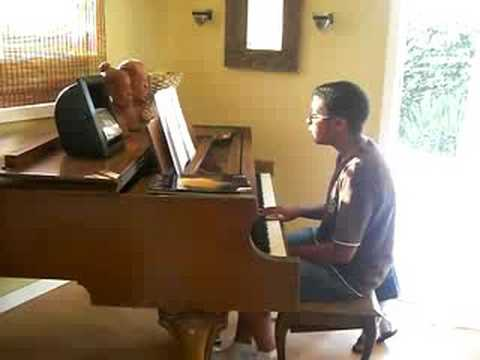 Austin learns chords