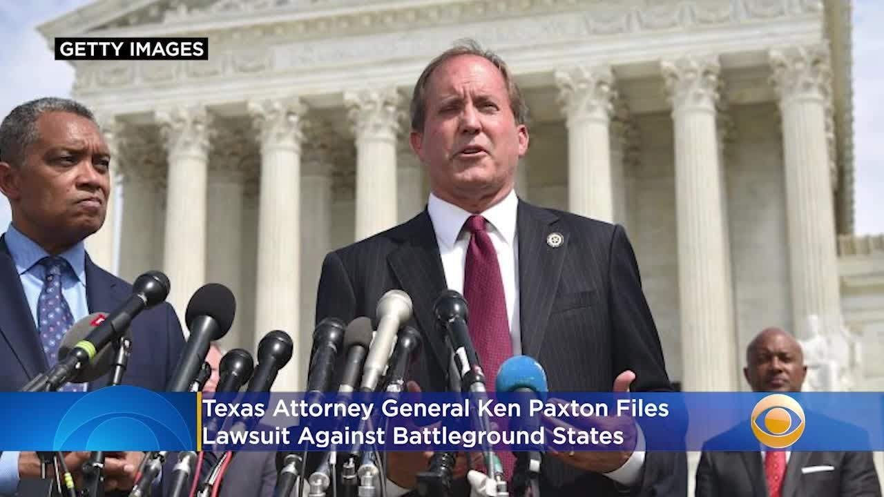 Texas Attorney General Ken Paxton Sues Battleground States, Says Changes To 2020 Election Laws '