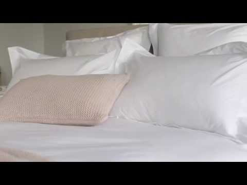 White Embroidered Percale 400TC Bed Linen by Secret Linen Store