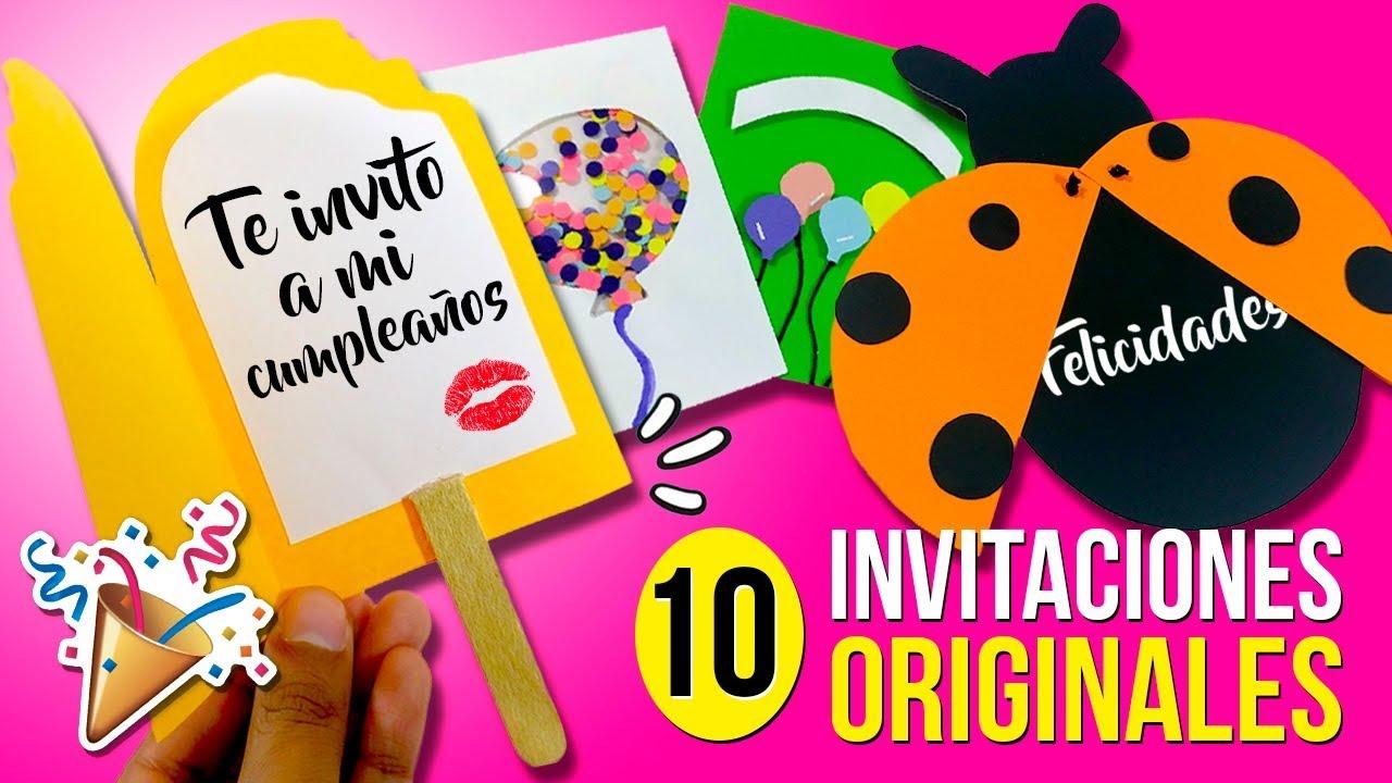 10 Invitaciones Fáciles Y Originales Para Hacer En 1 Minuto