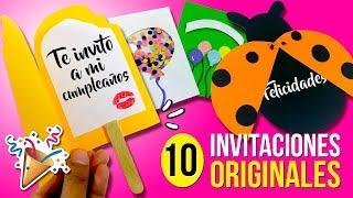 🎂 10 INVITACIONES Fáciles y Originales para hacer en 1 MINUTO!! 🎂