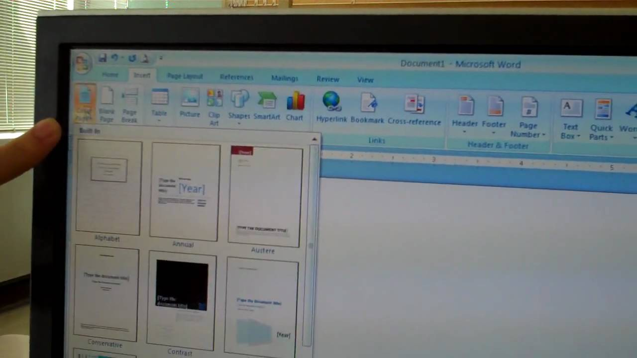 create a cover page in word 2007 create a cover page in word 2007