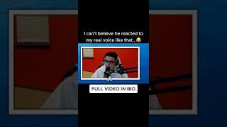 No Way he REACTED to my VOICE like THAT 😂