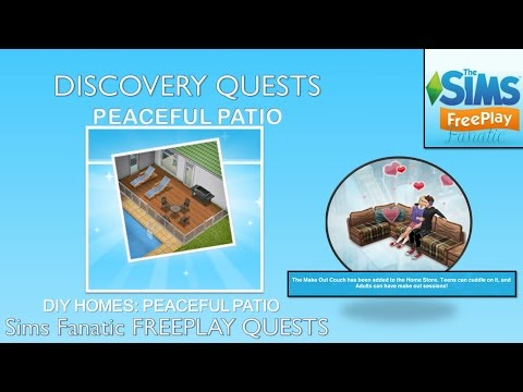 Sims FreePlay – DIY Homes (Peaceful Patio)