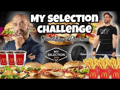 MCDONALD - My Selection Challenge - Powerlifting & Cheat Meal - MAN VS FOOD