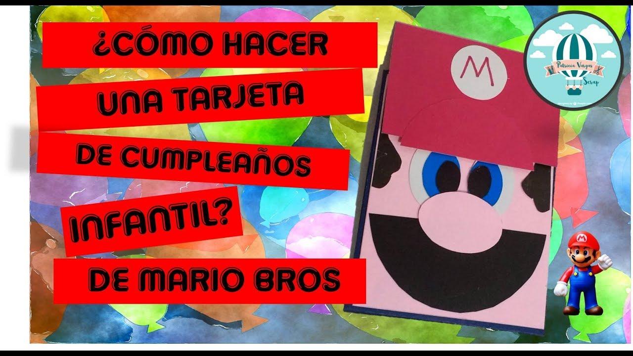 Invitación Fácil De Mario Bros Retoveda Dia 28