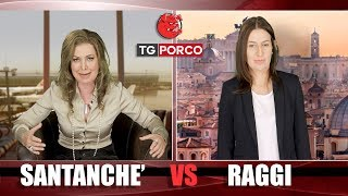 Intervista a Daniela Santanche e Virginia Raggi TG PORCO  S04 PT04