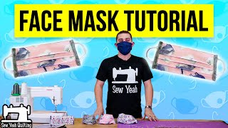 how to Sew a Simple Face Mask Tutorial