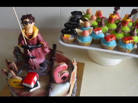 Cake Harry Potter. Cupcakes / Гарри Поттер торт и капкейки
