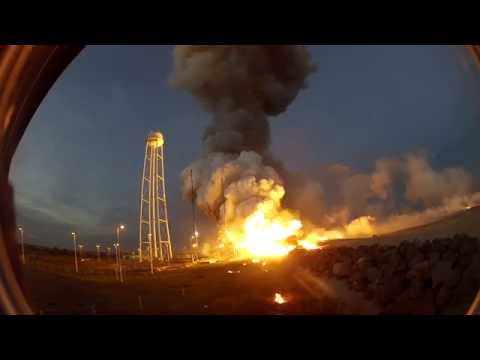 UP CLOSE At The Pad, Camera Views Capture Amazing Sight Of Antares Orb-3 Rocket Explosion