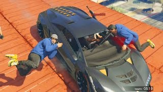 COCHES vs SNIPER - Gameplay GTA 5 Online Funny Moments (GTA V PS4)