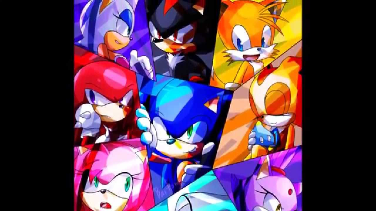 Sonic Amy Silver Shadow Blaze Tails Cream Knuckles And Rouge