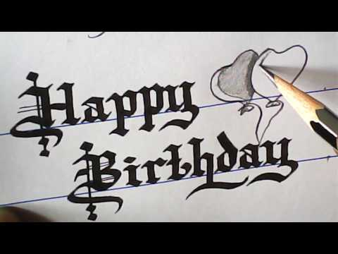 How To Write Happy Birthday Greeting | Old English Font | Mazic Writer