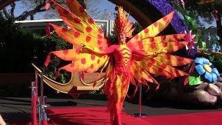 Festival of Fantasy parade Fashion Week show debuting costumes at Walt Disney World
