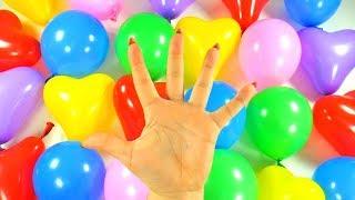 Воздушные шарики Учим цвета Песня про шарики Видео для детей Лопаем шарики Песня семья пальчиков