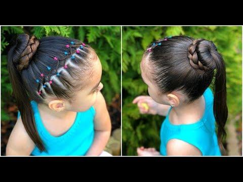 Peinado Para Ninas Con Coleta Cascada Y Ligas L P H Smotret Pryamo