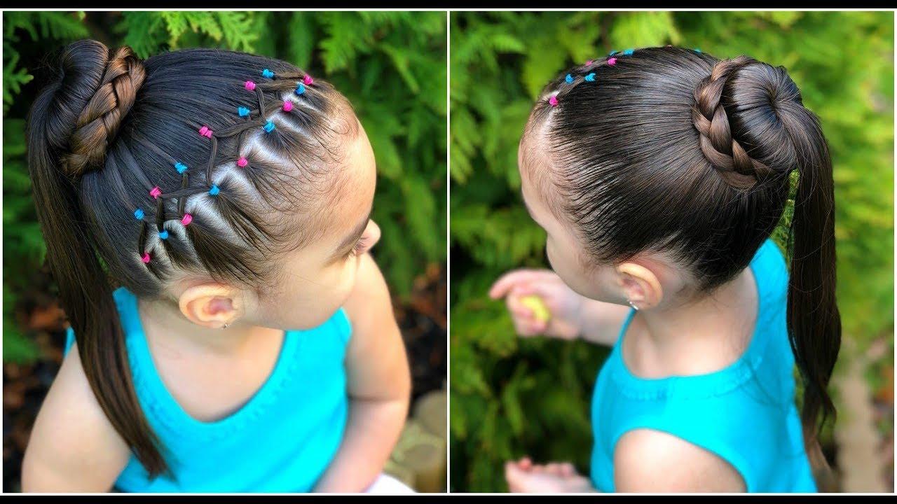 Peinados para niñas con ligas cruzadas