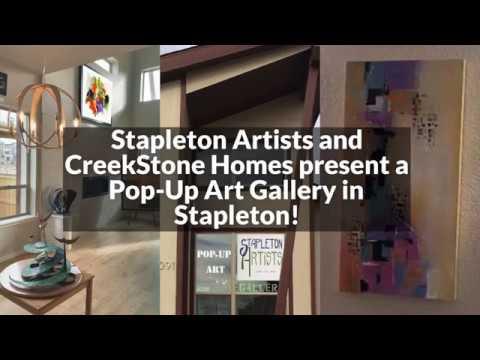 CreekStone Homes Pop-Up Art Gallery Stapleton Artists Denver Colorado