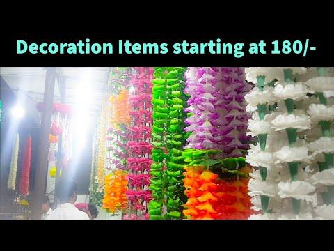 Wholesale Interior Decoration Items, Artificial flowers Market - Sadar Bazar Delhi
