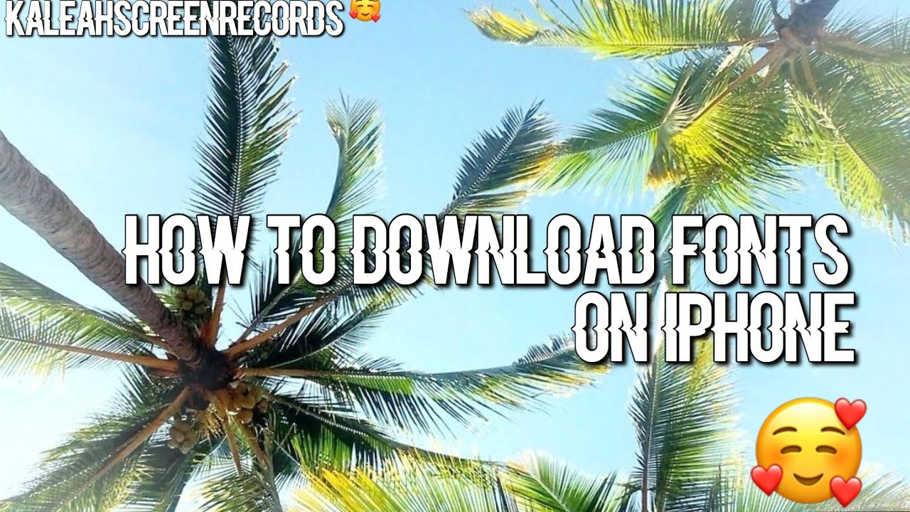 How to download fonts💙on IPhone - YouTube