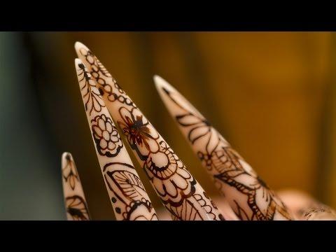 Nail Art Henna on Stiletto