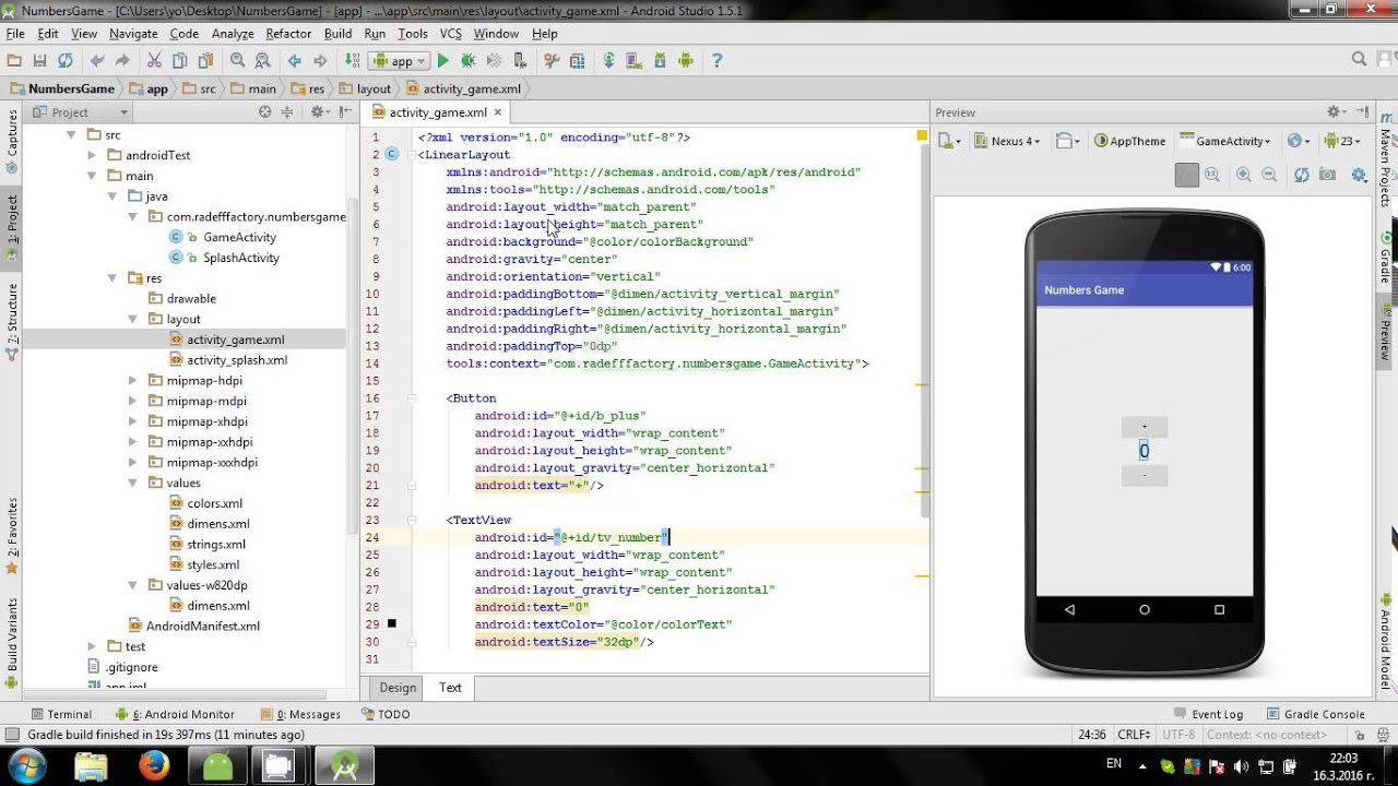 Android Studio 03 - Fast Clicker Game - YouTube