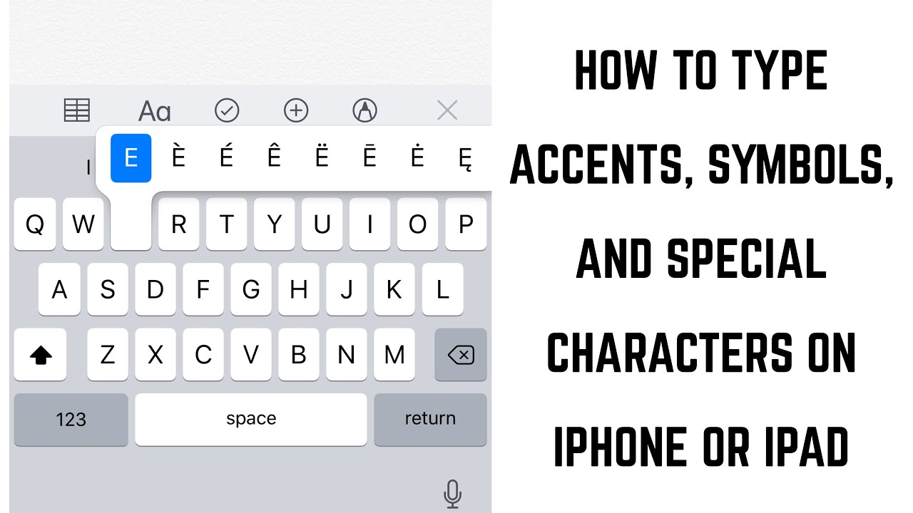 How To Type Accents Symbols And Special Character Letters On