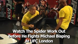 UFC London's Anderson Silva Works Out Before Fighting Michael Bisping (complete / unedited)