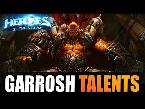 GARROSH - full abilities + talent info!! // Heroes of the Storm PTR
