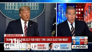 MSNBC cuts away from Trump's address after he again falsely declares election victory