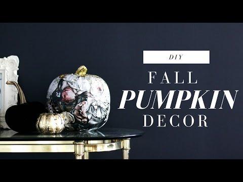 DOLLAR STORE DIY PUMPKINS   POTTERY BARN INSPIRED   AFFORDABLE FALL DECOR
