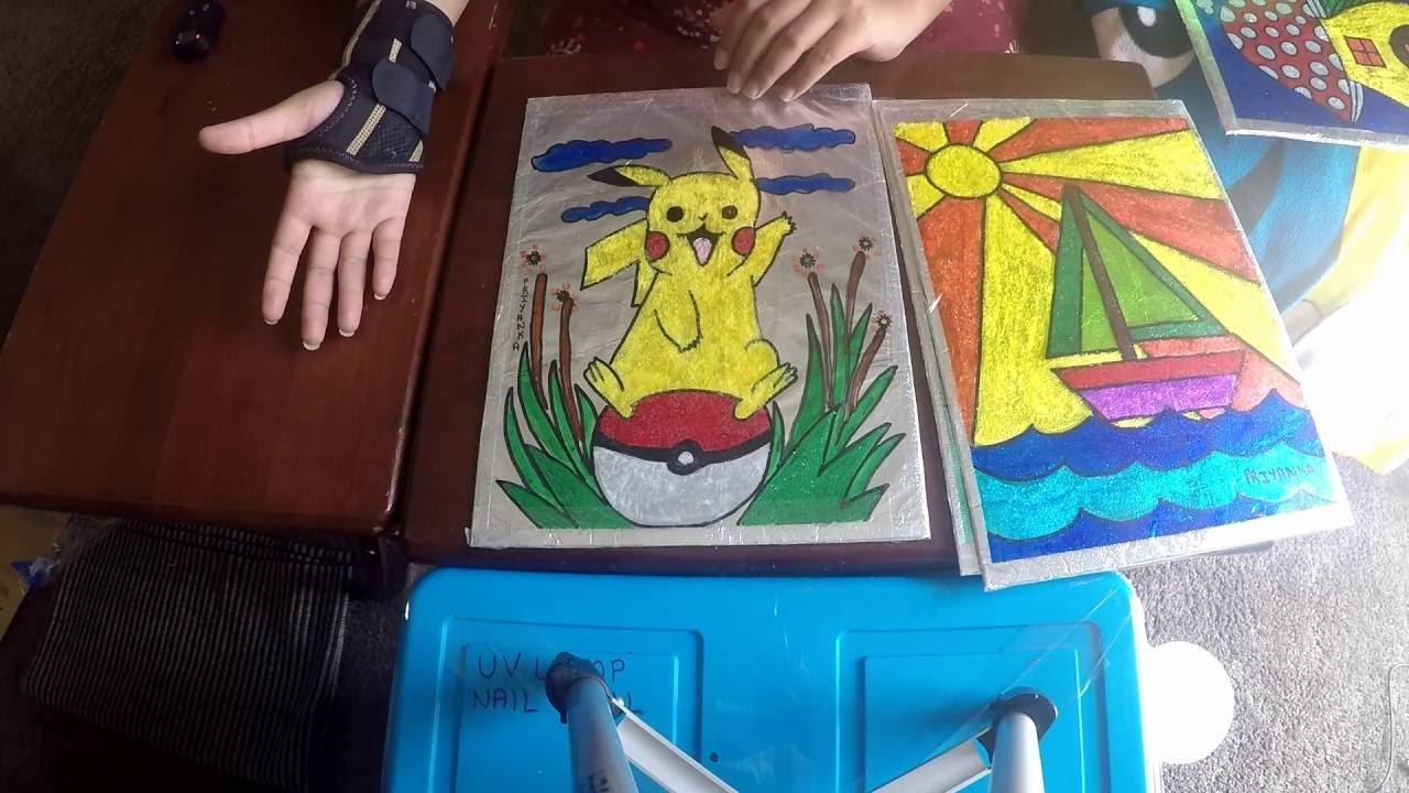Glitter Glue Painting Kids Art Ideas Permanent Markers Diy Fun Art Easy Beginner Project Youtube
