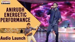 Anirudh Energetic Live Performance @ Agnyaathavaasi Audio Launch | Pawan Kalyan | Trivikram