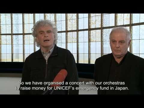 Sir Simon Rattle and Daniel Barenboim on their joint benefit concert for Japan