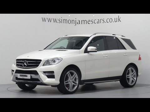 Mercedes Benz Ml350 Cdi Bluetec Amg Sport Finished In Diamond White