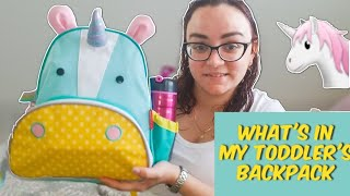 What's in my toddler's backpack/ Skip Hop Zoo backpack