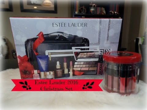 estee lauder christmas blockbuster set gloss go round set unboxing w swatches