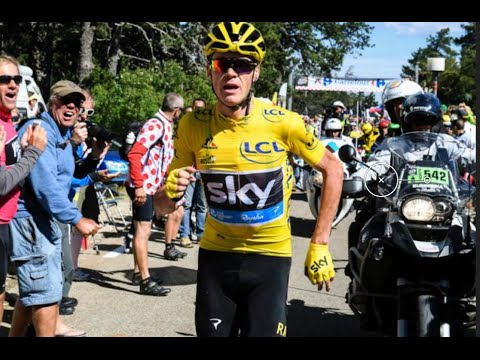 Chris Froome Running Up Ventoux!