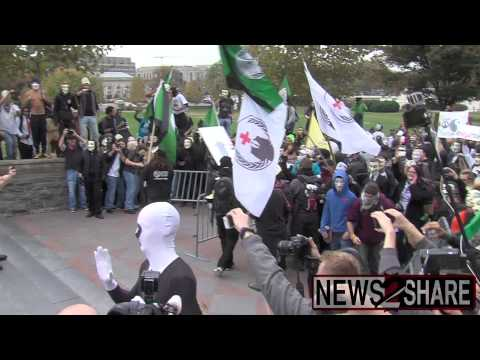 Violent Clash at Capitol Building in Million Mask March