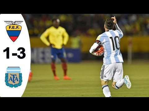Resumen y goles Ecuador 1-3 Argentina