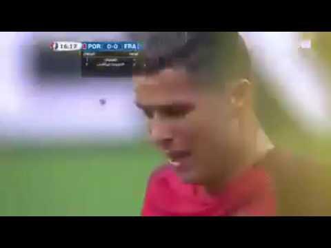 Cristiano Ronaldo injury vs France EM Final 2016