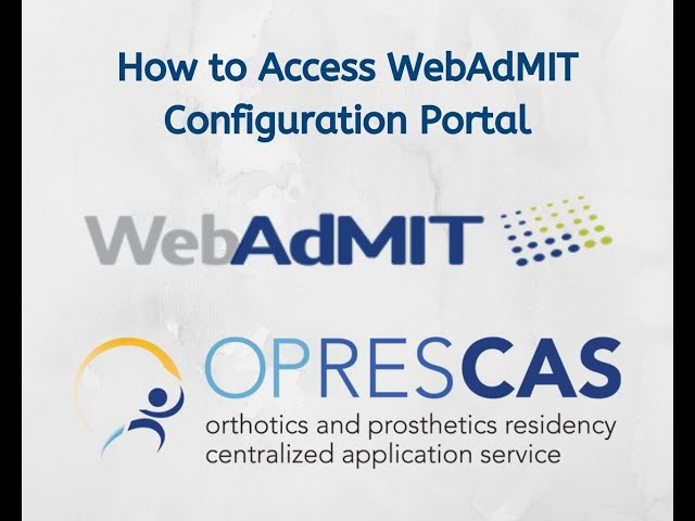 How to Access Configuration Portal Within WebAdmit