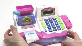 Toy cash register girls SCALE CALCULATOR AND SOUNDS INCLUDES ACCESSORIES